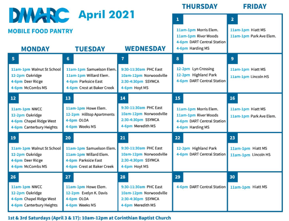 DMARC April Calendar